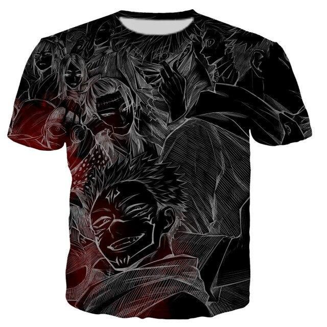T-shirt Fléaux  | Jujutsu Kaisen 5XL Official Jujutsu Kaisen Merch