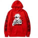 Jujutsu Kaisen Hoodie Hip Hop Anime Pullovers Tops Loose Long Sleeves Autumn Man Cloth 2 - Jujutsu Kaisen Store