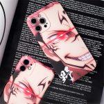 Jujutsu Kaisen Itadori Yuji Ryomen Sukuna Phone case For iPhone 12 Evil smile soft cover For 1 - Jujutsu Kaisen Store